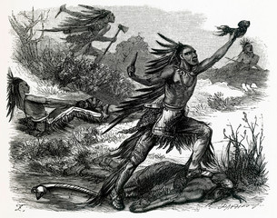 American Indians Scalping