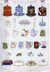 Cheese Covers, Egg Cups, Pots and Jugs, Plate 38