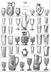 Water Sets and Tumblers, Plate 125