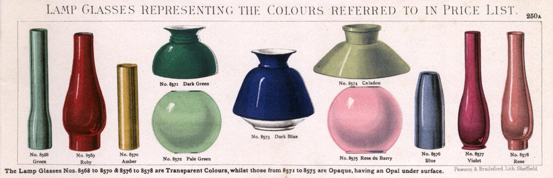 Colour Slip of Lamp Glasses