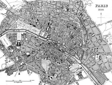 Paris, France City Map