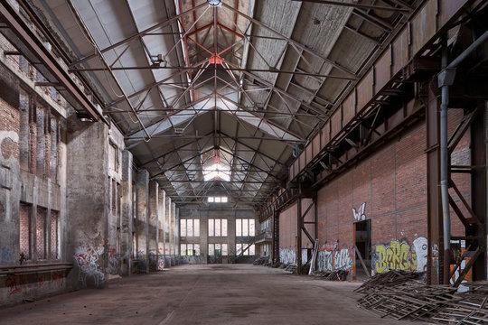Alte Industriehalle im Ruhrgebiet, kurz vor dem Abriss
