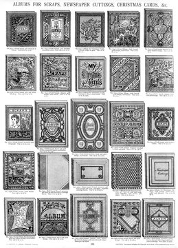 Albums for Scraps, Cuttings, Cards, Plate 181