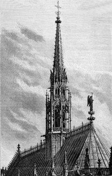 Paris, France La Sainte Chapelle, La Nouvelle Fleche