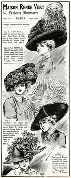 Advertisement for MAison Renee Vert, Womens HAts 1910