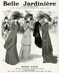 Advertisement for Belle JArdiniere Women Clothing 1909