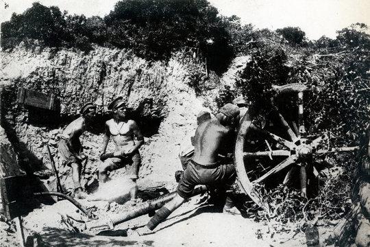 Ww1 Australian Gunners in Gallipoli, 1916