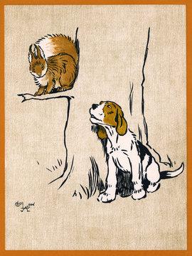 Illustration by Cecil Aldin, Field Babies