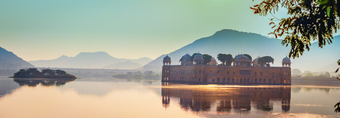 Jalmahal jaipur . famous heritage places in Jaipur,  rajasthan during sunset. tourist places