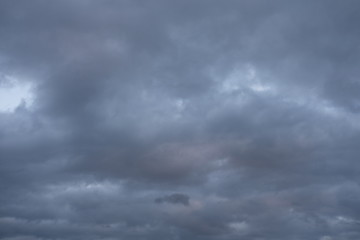 Evening Sky with clouds