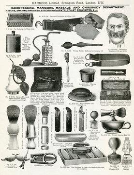 Trade Catalogue of Mens Shaving Equipment 1911