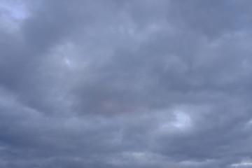 Dark evening sky with clouds