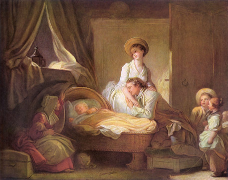 The VisiT To The Nursery by Jean Honore Fragonard