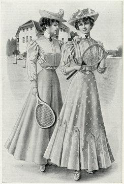 Tennis Gowns, 1906