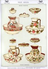 Toilet Services, English Stoneware, Plate 54