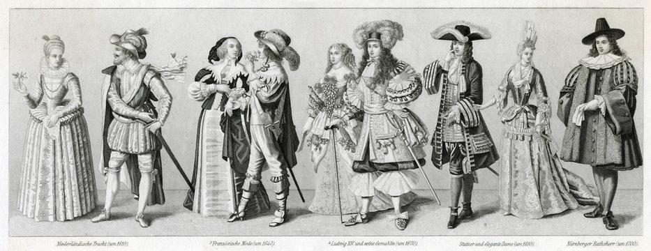 Costume Styles, 17th Century