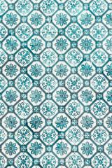 Beautiful Blue Ceramic Wall Texture Pattern Or Azulejos In Lisbon, Portugal