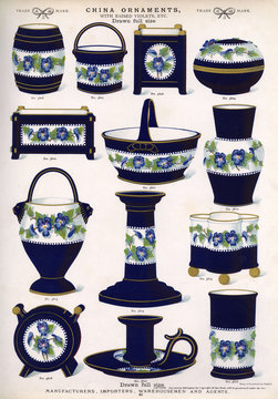 China Ornaments with Raised Violets, Plate 69