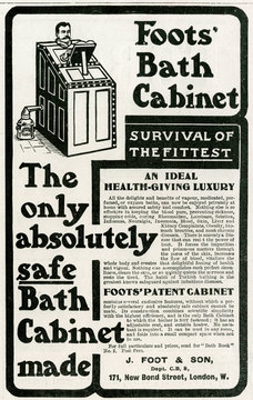 Advertisement for Foots PAtent CAbinet BAth 1902