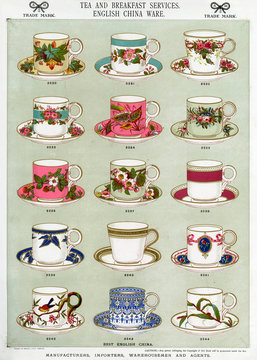 Tea and Breakfast Services, English China Ware, Plate 28