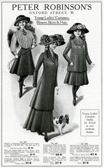 Advertisement for Peter Robinsons Clothing for TeenAge Girls 1909