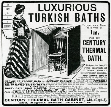 Advertisement for Luxurious ThermAl BAth CAbinet 1902