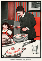 Father Carving the Turkey by Charles Robinson