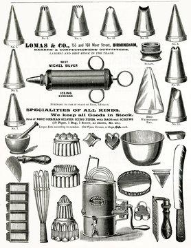 Advertisement for LomAs CoCAke DecorAting Tools 1898