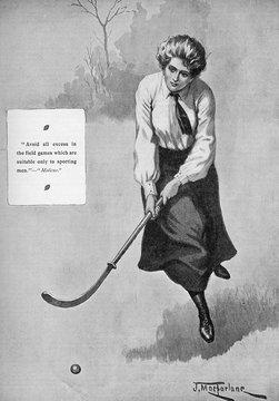 Girl Playing Hockey