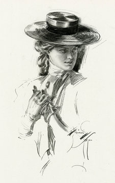 Woman in Riding Clothing 1907