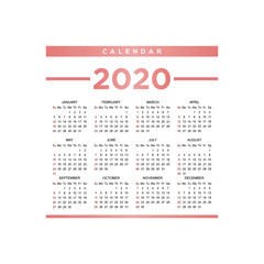 calendar 2020 background template