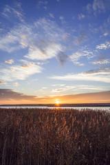 Zachód słońca nad kanałem