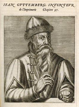 Johannes Gutenberg, German Goldsmith and Printer