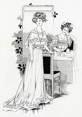 Simple Dining Dress 1907