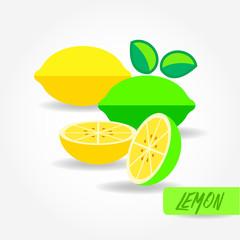 Lemon vector illustration.