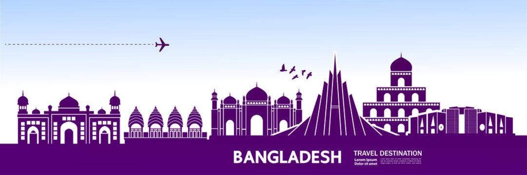 Bangladesh travel destination vector illustration.