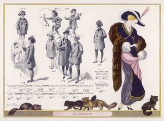 Sable Fur Wrap 1912