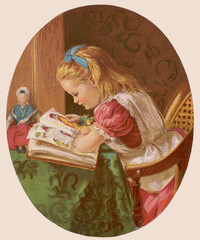 Girl Reads Struwelpeter