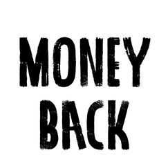Money Back stamp on white