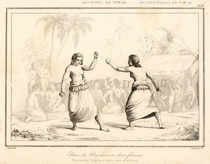 Tongan Women Box Circa 1830