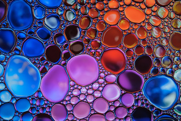 Beautiful abstract water drops colorful background. Multicolored backdrop.
