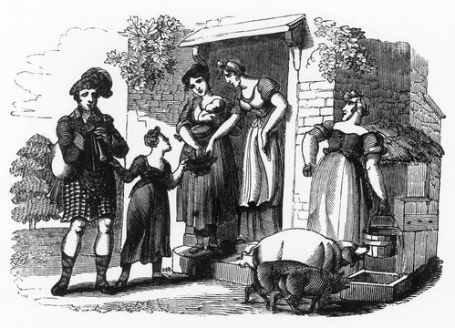 Street MusicAn Itinerant Piper, 1831