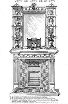 Mantel, Over Mantel and Ornaments, Plate 196