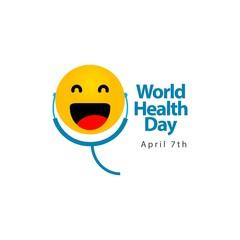 World Health Day Vector Template Design Illustration