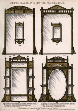 Chimney Glasses, Over Mantels, Girandoles, Plate 197