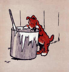 Illustration by Cecil Aldin, the Red Puppy Book