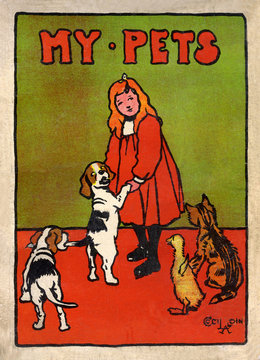 Cover Design by Cecil Aldin, My Pets and Their Ways