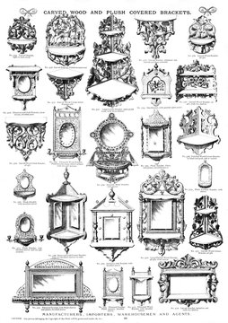 Carved Wood and Plush Covered Brackets, Plate 80
