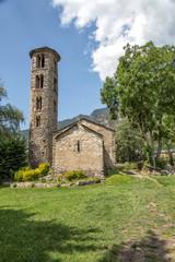 Pre-romanesque church of Santa Coloma at Andorra Principality, building.