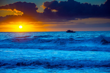 Bold and Bright Sunrise Seascape
